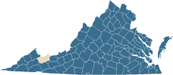 Map of Tazewell County